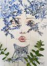 kiam_sophia_weinbrenner_aquarell_blattgesicht-blau